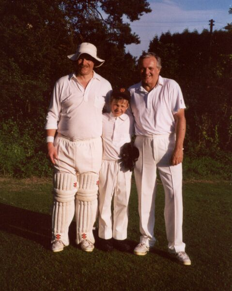 Three generations of the same family turn out for the Badgers at Ewhurst, July 2000