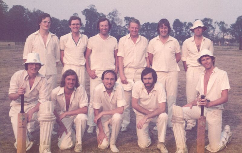 The Badgers after the 1976 game against Cheam Parish